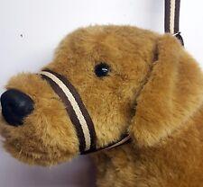 Figure of eight Airweb cushion  dog halter headcollar & Lead in 1 Brown & Cream