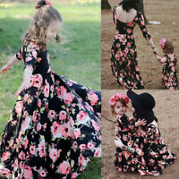 Family Matching Outfits Mother and Daughter Clothes dress Baby Girl Floral Dress