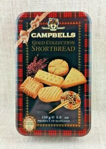 Campbells Gold Collection Shortbread 5 oz Cookie - Biscuit Tin - Scotland
