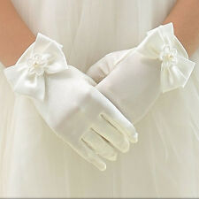 Fashion Flower Girl Party Bowknot Gloves Ceremony Wedding Communion Accessories