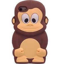 """FUNDA CARCASA DE SILICONA PARA IPHONE 6 6S 4.7"""" DIBUJOS 3D MONO MARRON ANIMALES"""