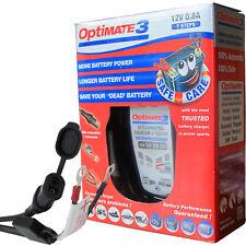 Optimate 3 Global 12v Motorcycle Battery Charger AGM/MF STD GEL 2Ah to 35Ah