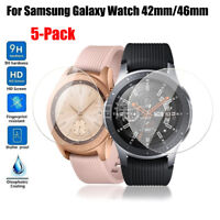 5pcs Tempered Glass Screen Protector For Samsung Galaxy Watch 42mm 46mm TOP QUA