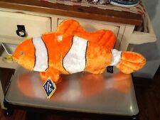 "The Petting Zoo Plush Orange Goldfish Gold Fish 20"" Stuffed Animal w/sound 1994"