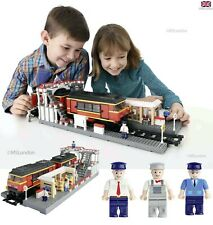 Big Blox Train Station Mega Set Lego Compatible & Figures Toys Kids Bricks UK 6+