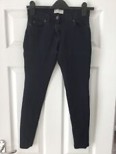 "c09c8c409e5 Zara Collection Ladies Navy W26"" Soft Skinny Cotton Blend Trousers"