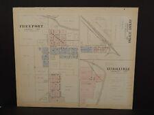 Iowa Winneshiek County Map Burr Oak Spillville 1905 Double Sided  K14#79