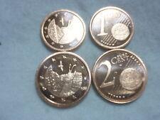 1 et 2 cent d euro de Andorre 2014 tres RARE