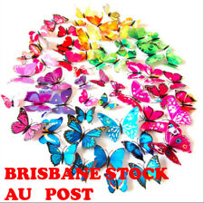 12PCS 3D Butterfly Wall Decal Magnet Removable Sticker Kids Nursery Decoration