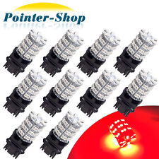 10x Pure Red 3157 60-SMD LED Light Bulbs For Car Brake Tail Stop 3057 3457 4157