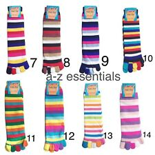 TOE SOCKS - STRIPY COLOURFUL COSY & WARM - GIRLS &WOMEN - HIGH QUALITY