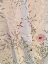 King Organic Cotton Comforter Cover Pink Gray Company Store Flower Floral Shadow