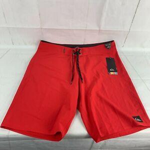 NWT NEW Quicksilver Men's Size 34 Red Swim Board Shorts Logo