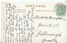 Sussex Posted Single Collectable Social History Postcards