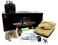 IN STOCK SALE Heng Long US M1A2 Abrams Radio Control RC 2.4ghz Smoke Sound Tank