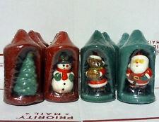 "Lot of 12 Cool 6"" Christmas Candles, Snowman, Bear, Christmas tree, Santa."