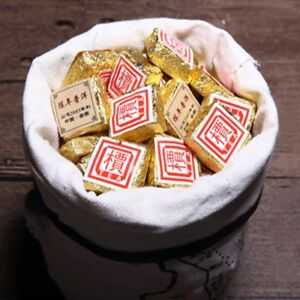 1Pc/Cup Yunnan Bohai Puer Mini Square Brick Tea Bulk Ripe Pu-Erh Tea Health Care