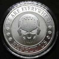Punisher 1 oz Silver Round 3 Percenter Deuce Four Skull Rifle Calibers