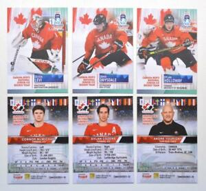 2021 BY cards IIHF U20 World Championship Team Canada BASE Pick a Player Card