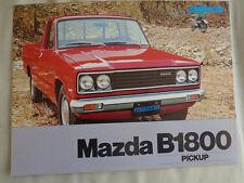 Mazda B1800 Pick Up brochure c1980 Dutch text