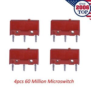4Pcs Kailh Red Mouse Micro Switch Microswitch Mouse Button 60 Million Clicks
