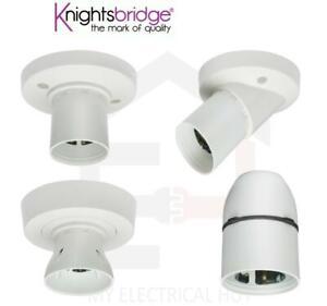 T2 BC HO Knightsbridge straight angled short ceiling rose cord lamp 3 terminal