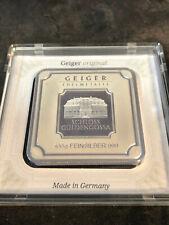 Geiger Edemetalle Original 100 Gramm 999 Silber Silberbarren in Box zertifiziert
