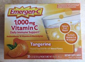 Emergen-C Tangerine 30 count, Vitamin C 1000 MG Daily Immune Support