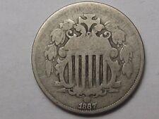 1867 US Shield Nickel (Die Break).  #53