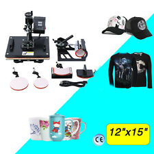 5 in 1 Digital T-Shirt Mug Hat Heat Press Machine Transfer Sublimation Printer