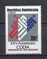 27958) DOMINICANA REP. 1988 MNH** Nuovi** Engineers