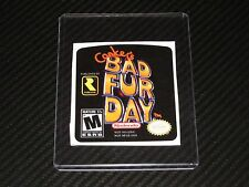 Conker's Bad Fur Day N64 Cartridge Replacement Game Label Sticker Precut