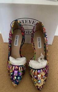 Steve Madden Multi Coloured Jewelled Stilettos 38