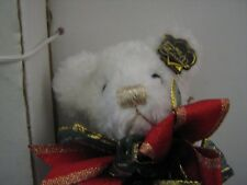 Annette Funicello Mohair Bear Icicle w/Christmas Tree Ornament