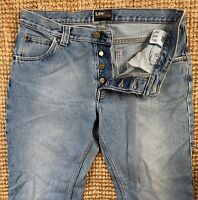 Mens ** LEE ** Roscoe Stonewash Blue Vintage Straight Denim Jeans W33 L34