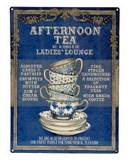 Grande Plaque Métal 30x40 AFTERNOON TEA thé Café Tasse Cuisine Vintage Déco Loft
