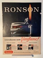 1958 Ronson Varaflame - Corby's Reserve Blended Whiskey - Magazine Ad