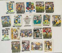 Green Bay Packers (20) Card Lot Aaron Rodgers Favre DaVante Adams Prizm Donruss