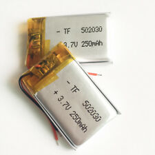 2 pcs 250mAh 3.7V Rechargeable lipo Battery 502030 For MP3 DVD SMART WATCH GPS