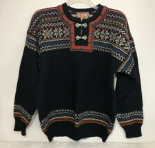 Vintage DALE OF NORWAY Setesdal Wool Pullover Sweater Nordic Unisex L Large