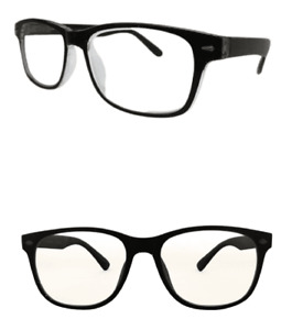 Bifocal Reading Glasses Black Frame UV Protected Lenses and Spring Hinges