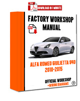 ITALIAN OFFICIAL WORKSHOP Manual Repair Alfa Romeo Giulietta 940 2010 - 2015