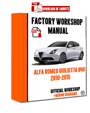 ITALIAN OFFICIAL WORKSHOP Manual Repair Alfa Romeo Giulietta 940 2010 - 2015