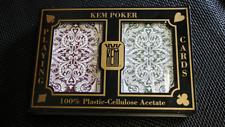 KEM Poker Plastic Playing Cards Jacquard (Purple and Green)Standard Index