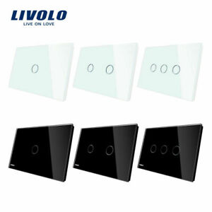 LIVOLO AU Power Points Touch Wall Light Switch LED 1/2/3Gang 1way With Indicator