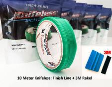 10mx3mm KNIFELESS TAPE FINISH LINE OHNE CUTTER FOLIEN GEFÄHRLOS SCHNEIDEN+RAKEL