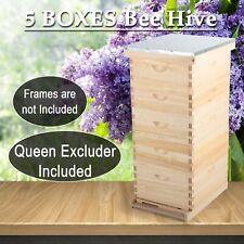 10 Frame Size 5 Box Bee Hive Framebeehive Frames With Metal Roof Queen Excluder