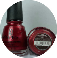 China Glaze Nail Polish Cherry Crystal 061 Deep Shimmer Red Discontinued Lacquer