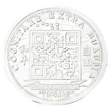 Silver Color Physical 2014 Quarter Bitcoin Commemorative Bit Coins 40mm