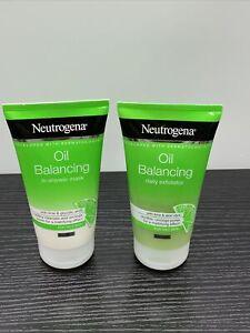 Lot Of 2 Neutrogena Oil Balancing Daily Exfoliator With Lime & Glycolic Acid